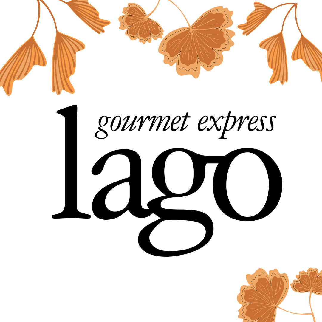 fall leaves lago catering logo